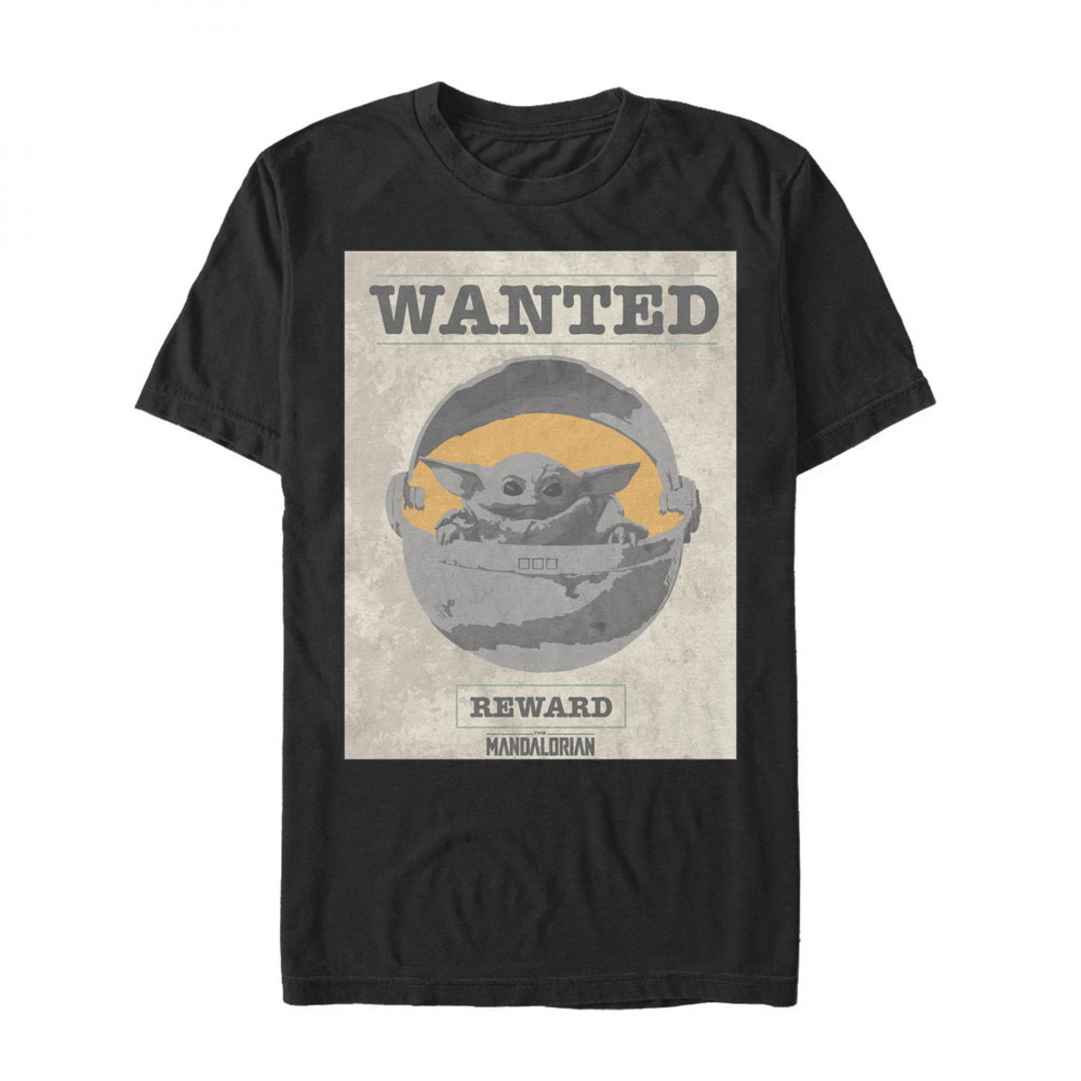 The Mandalorian Reward Poster The Child Black T-Shirt