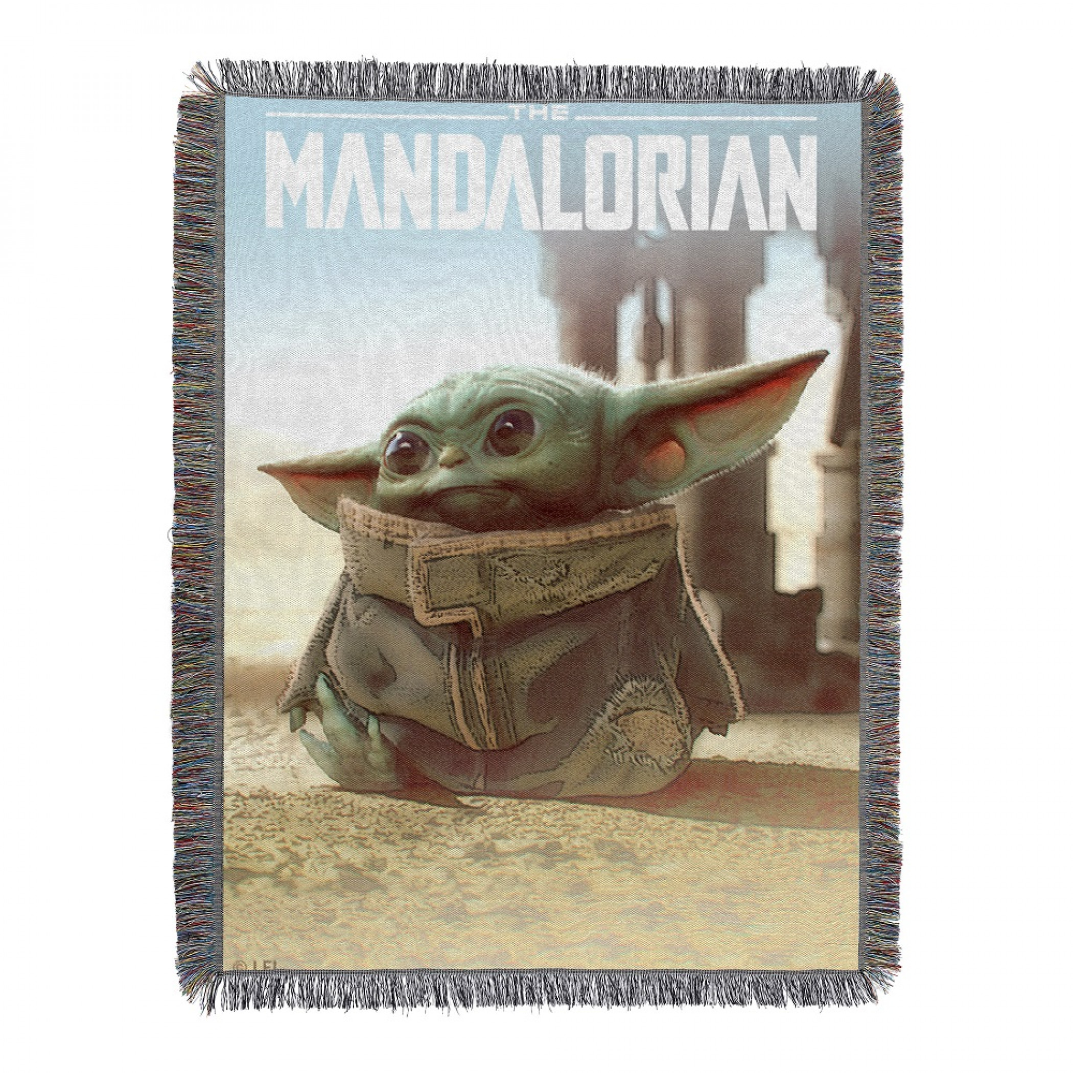 Star Wars The Mandalorian The Child Tapestry Fringed Throw Blanket