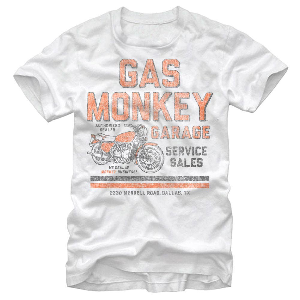 Gas Monkey Garage Authorized Dealer White T-Shirt