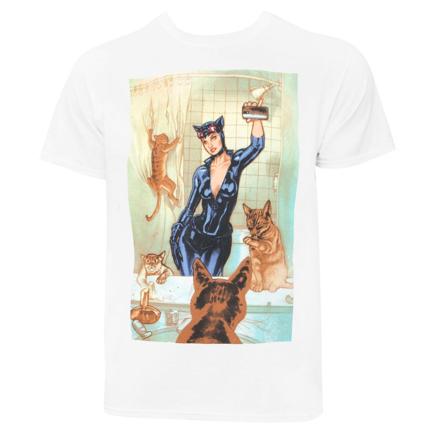 Catwoman Selfie Comic Men's T-Shirt