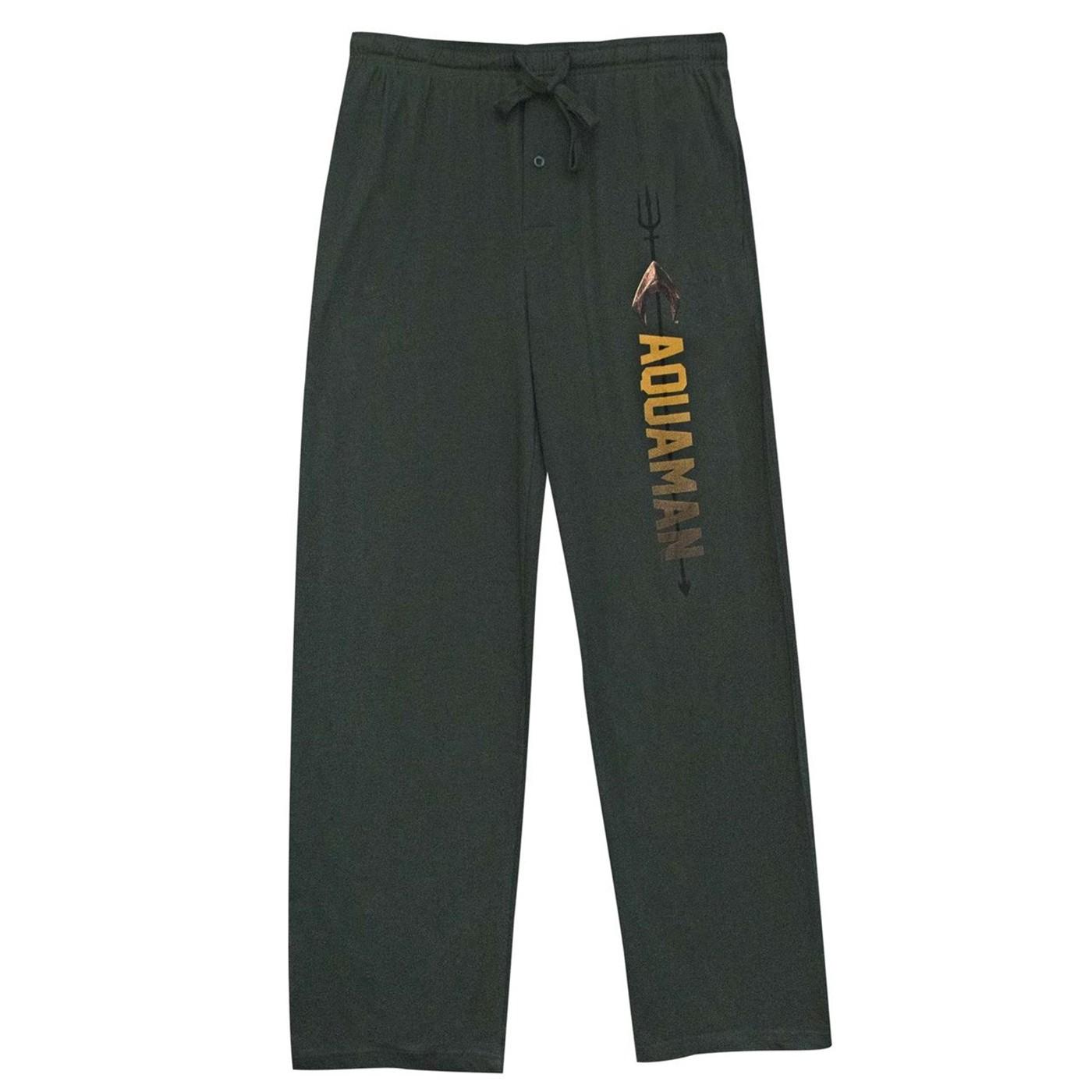 Aquaman Trident Name Logo Unisex Sleep Pants