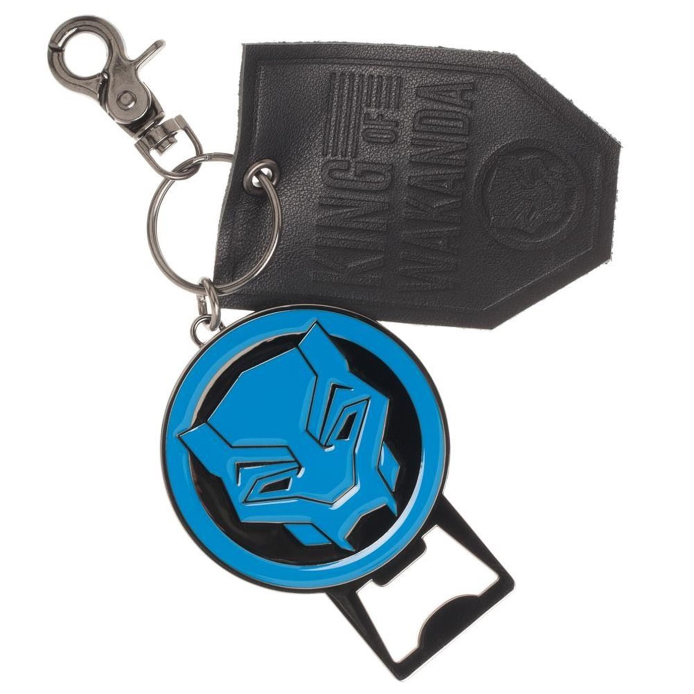 Black Panther Premium Bottle Opener and Leather Key Ring