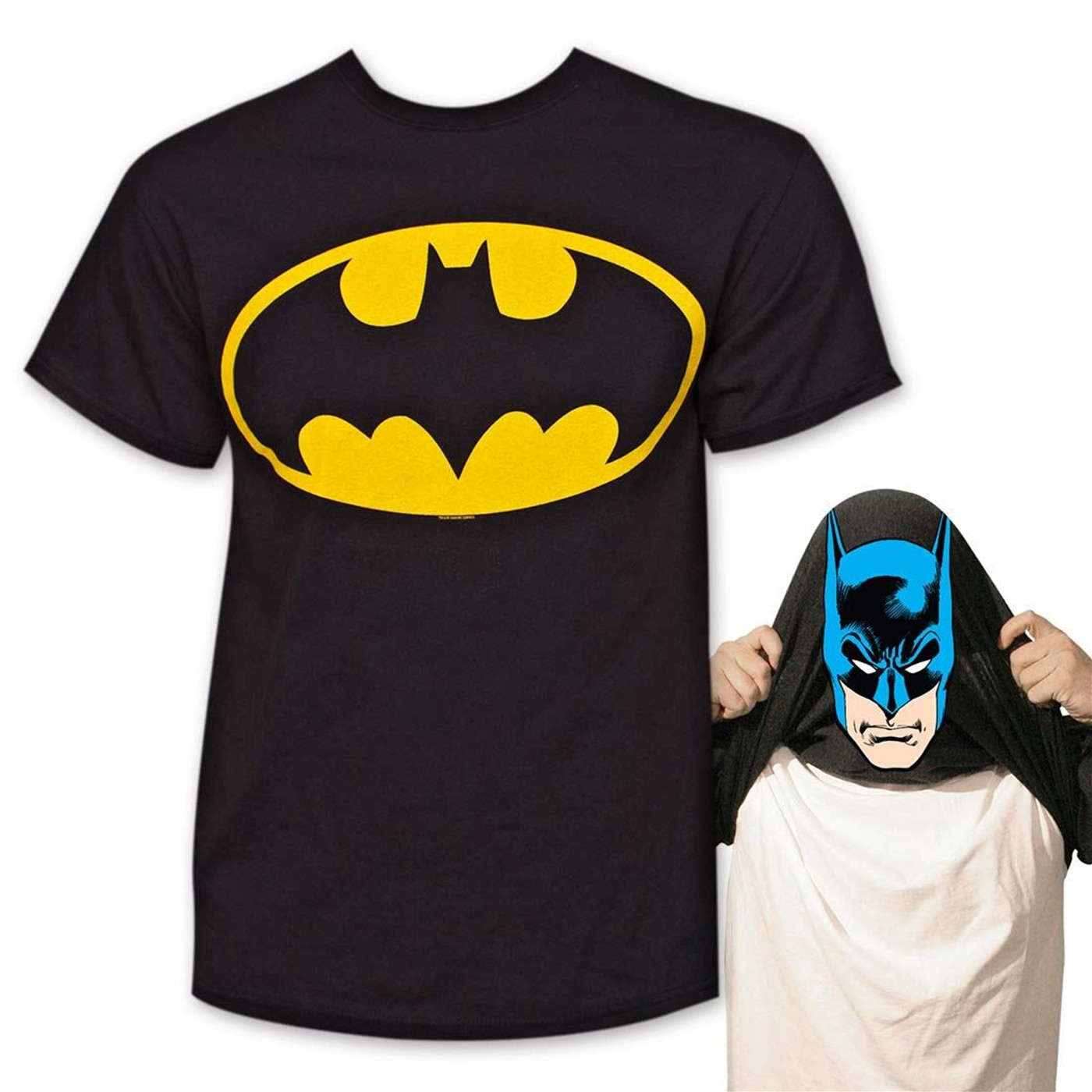 Batman Reversible Mask Men's T-Shirt