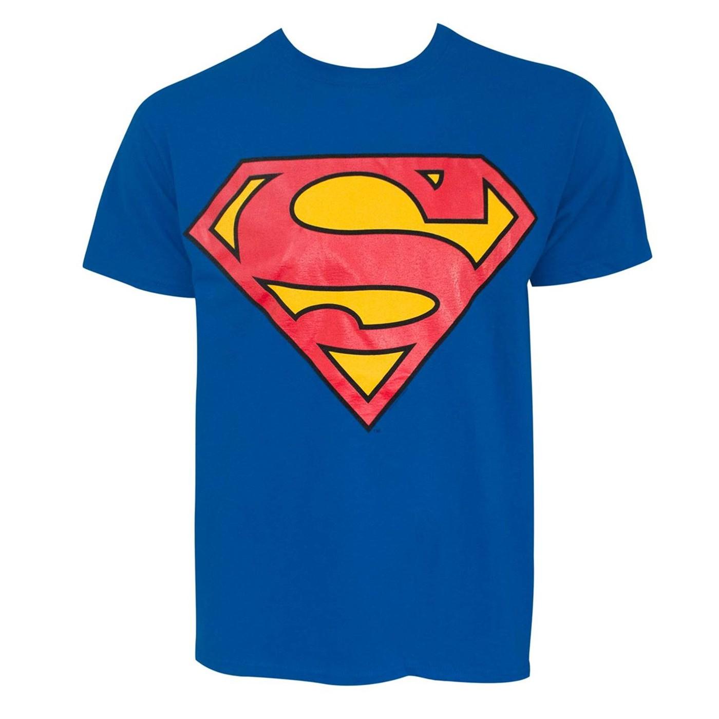 Superman Glow-in-the-Dark Symbol Men's T-Shirt