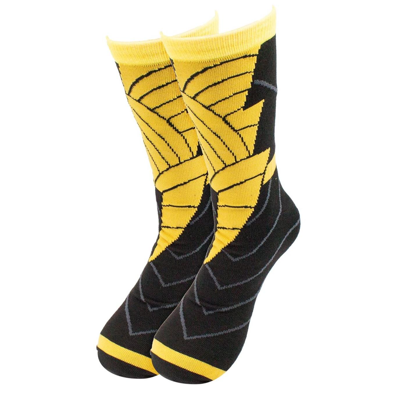 Black Adam Costume Crew Socks