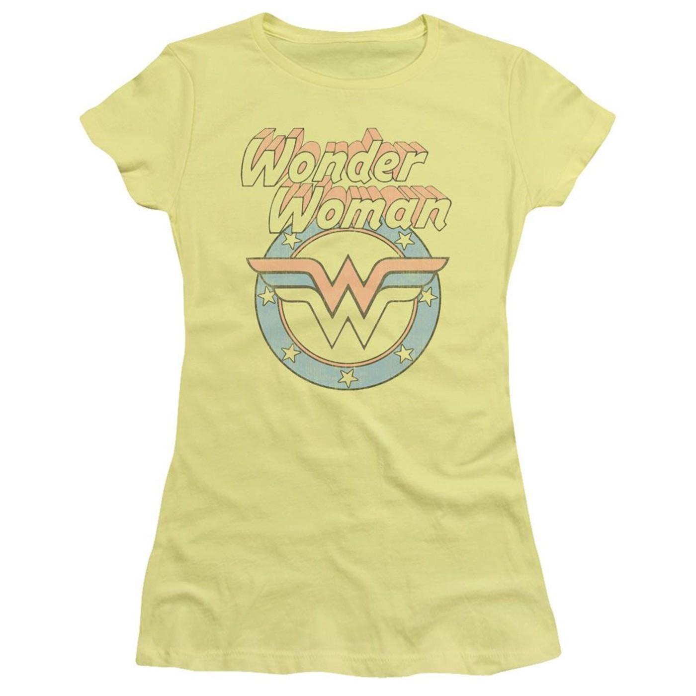 Wonder Woman Vintage Logo Women's Yellow T-Shirt