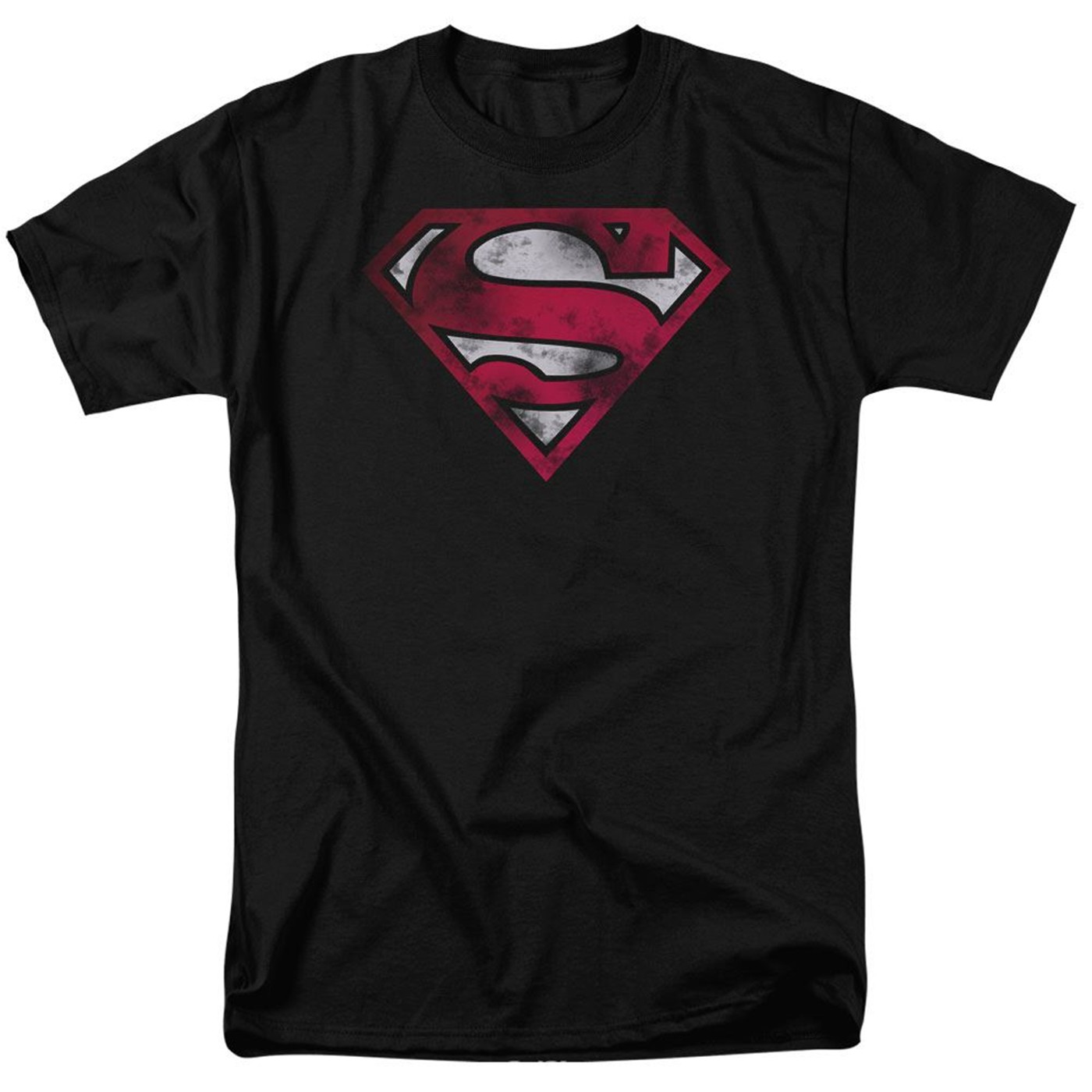 Superman Distressed Symbol White Variant Men's T-shirt