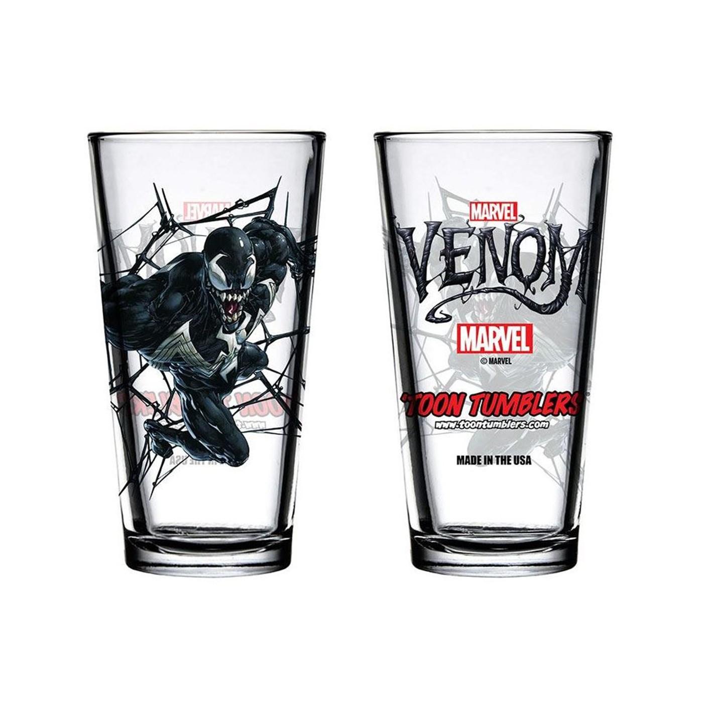 Venom Symbiote Pint Glass