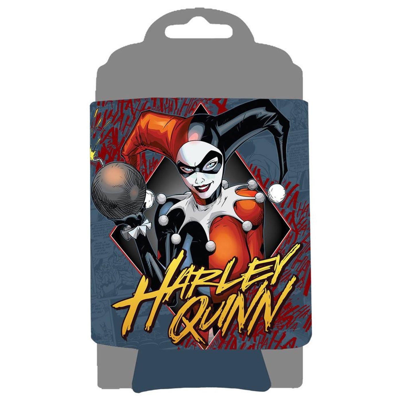Harley Quinn Diamond Can Cooler