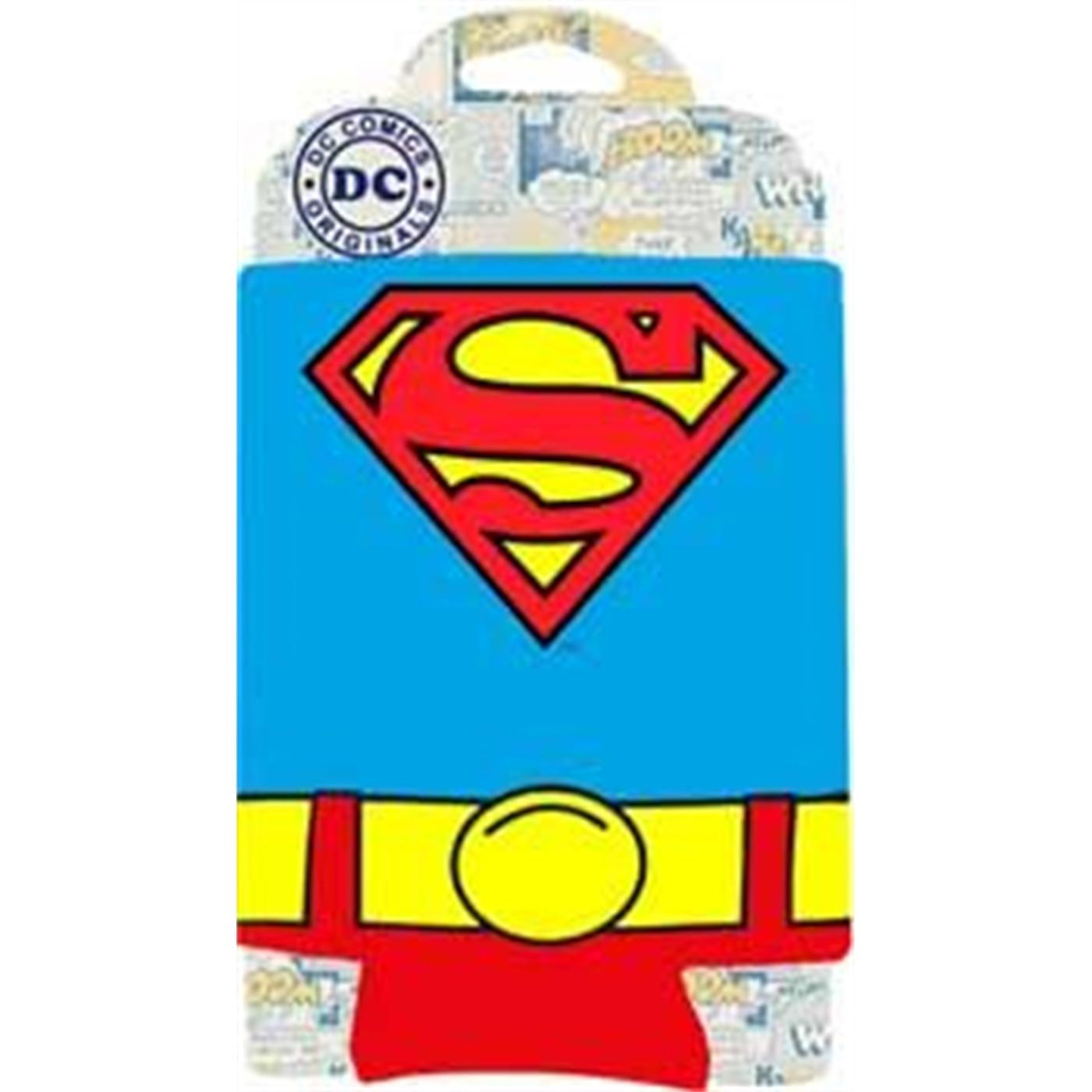 Superman Uniform Can Cooler