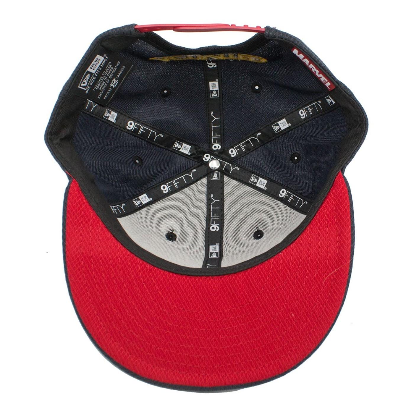 Captain Marvel Navy Scarlet New Era 950 Adjustable Hat