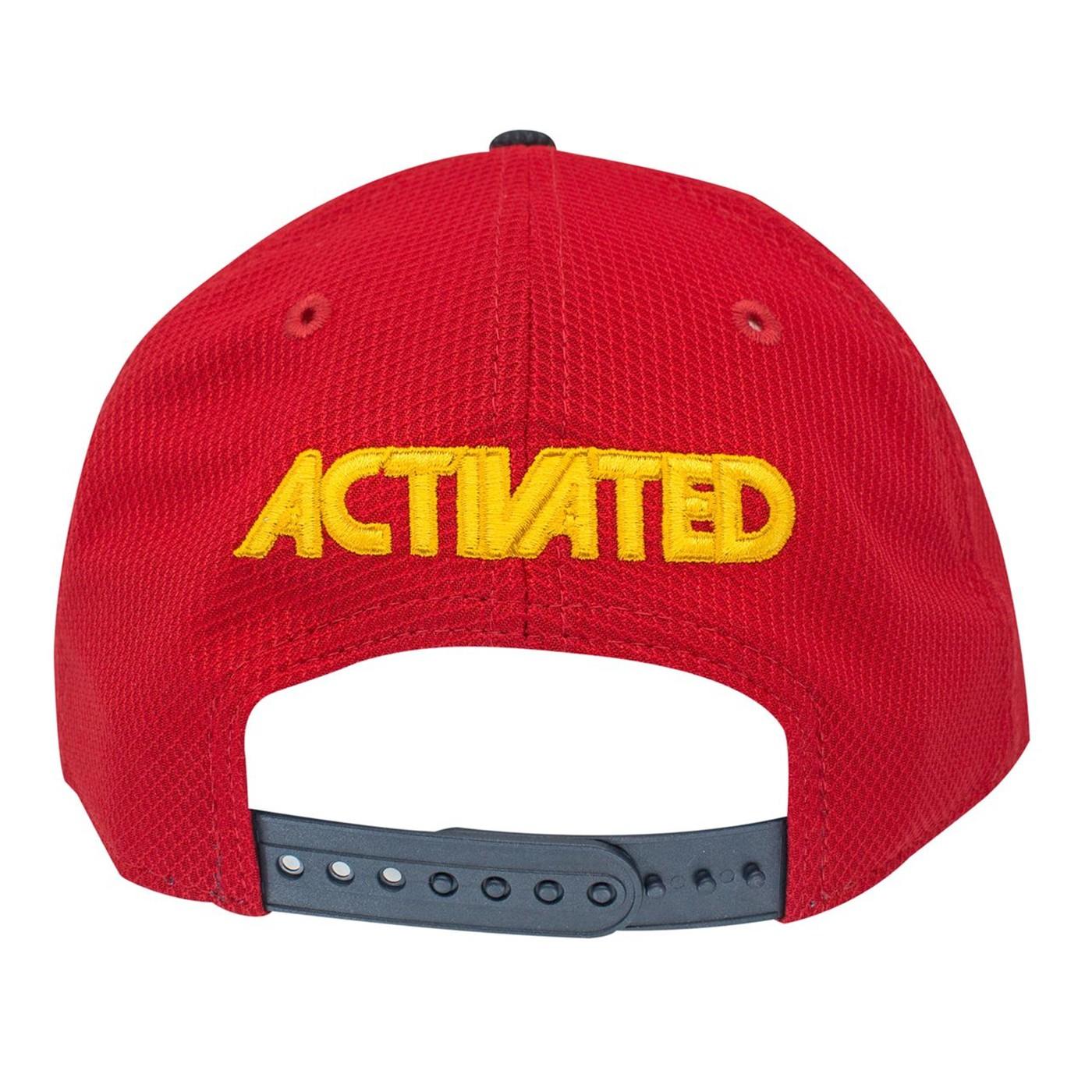 Captain Marvel Scarlet Red New Era 9Fifty Adjustable Hat