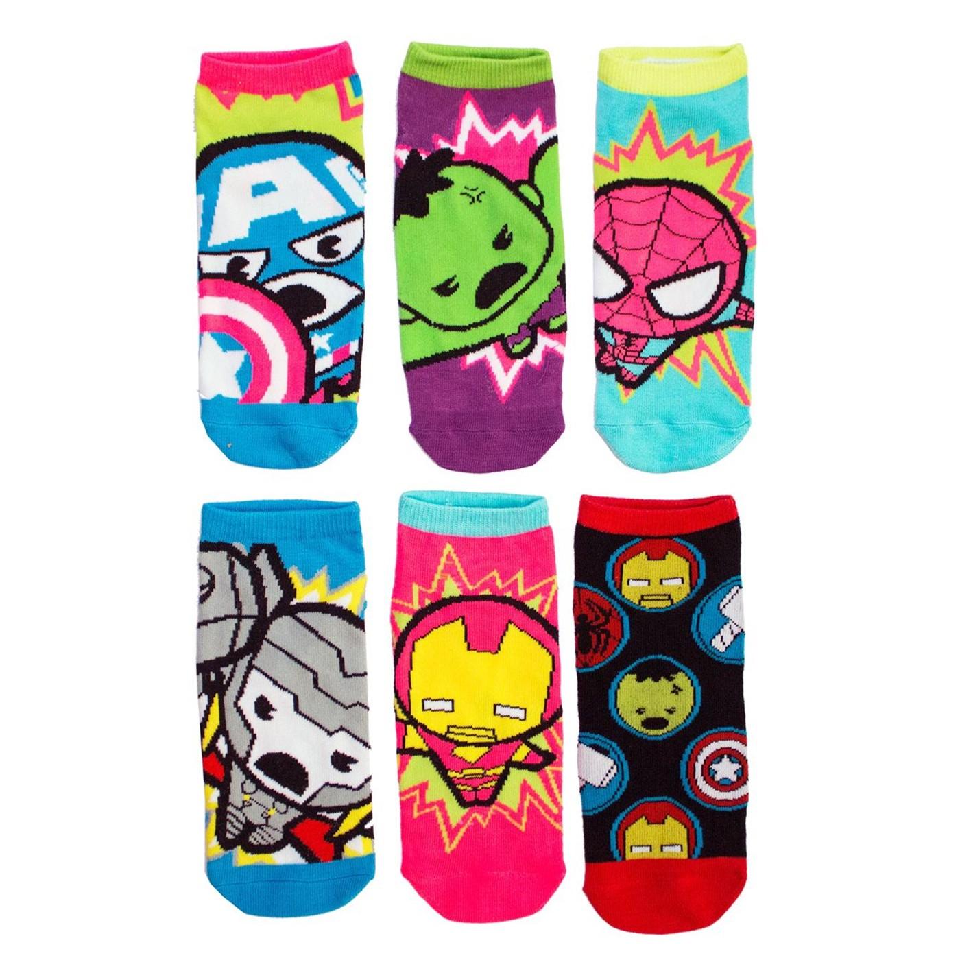 Marvel Heroes 6-pack Women's Ankle socks