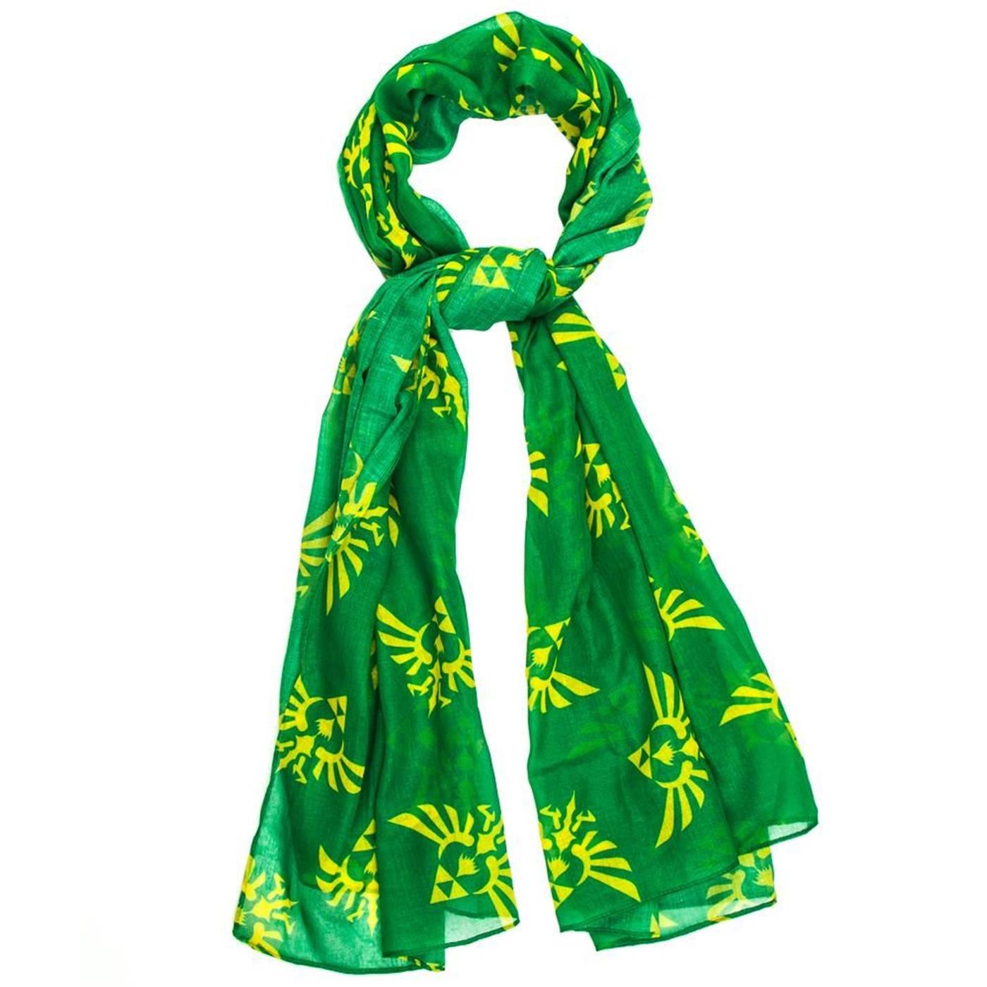 Nintendo Zelda Green Toss Print Oblong Viscose Scarf