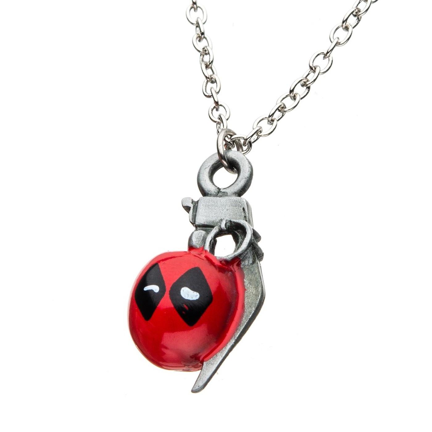 Deadpool Grenade Necklace