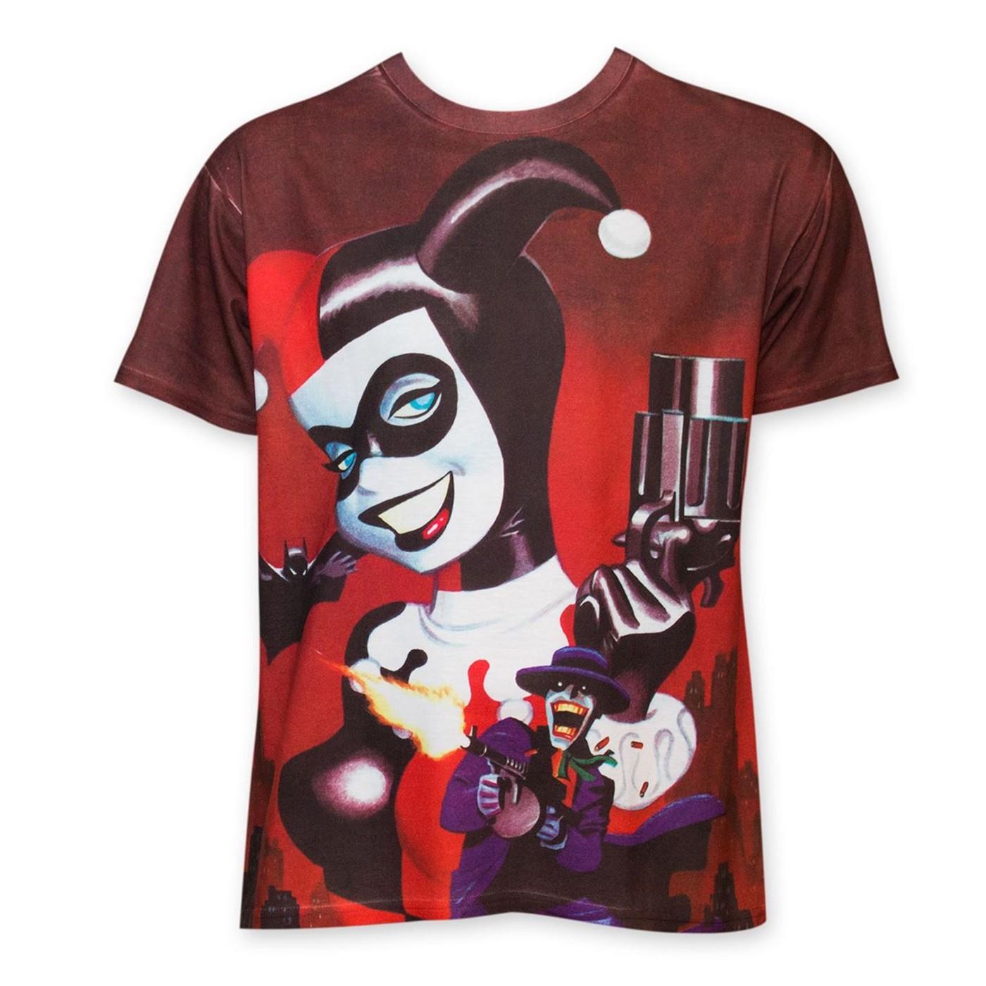 Harley Quinn Gun Sublimated Men's T-Shirt