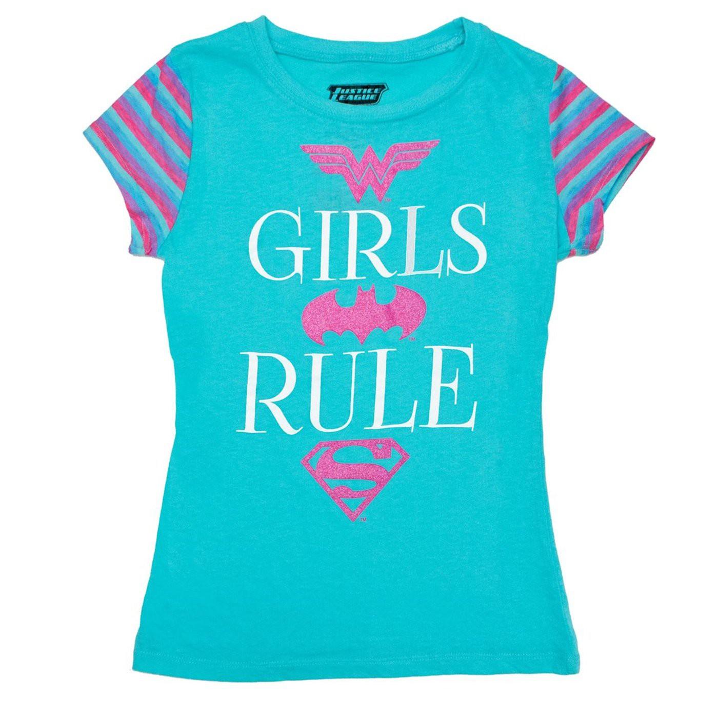 Girls Rule DC Symbols Girl's T-shirt
