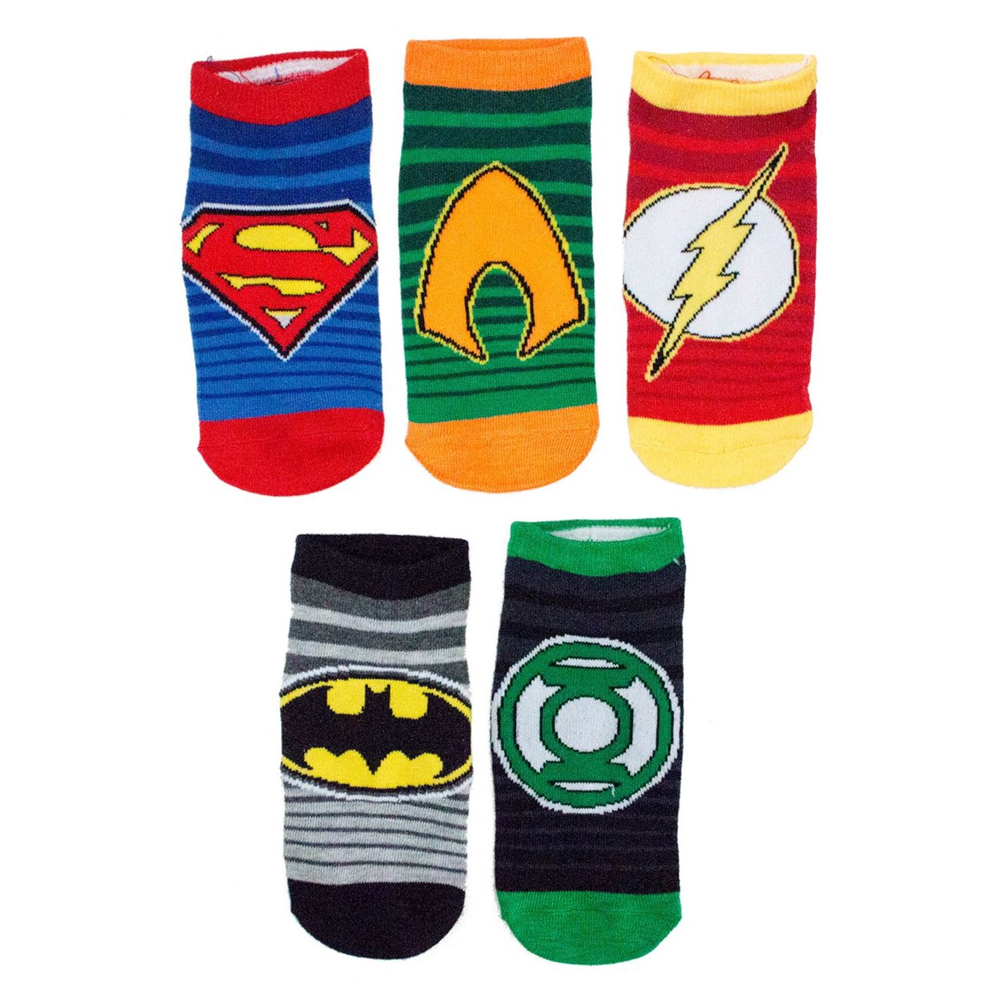 DC Comics Symbols Boys 5 Pair Low Cut Socks