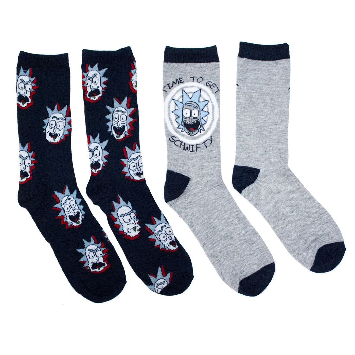 Rick and Morty 2-pack Crew Socks