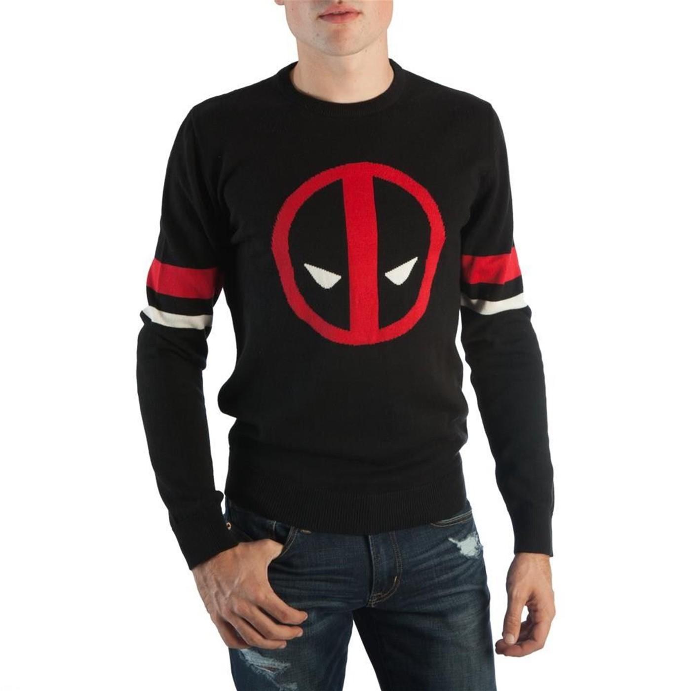 Deadpool Symbol Black Men's Sweater