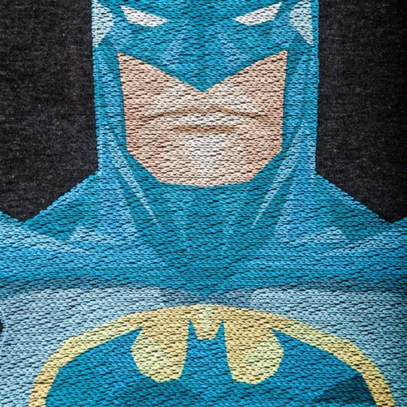 Batman Thread pixel Charcoal Men's T-Shirt