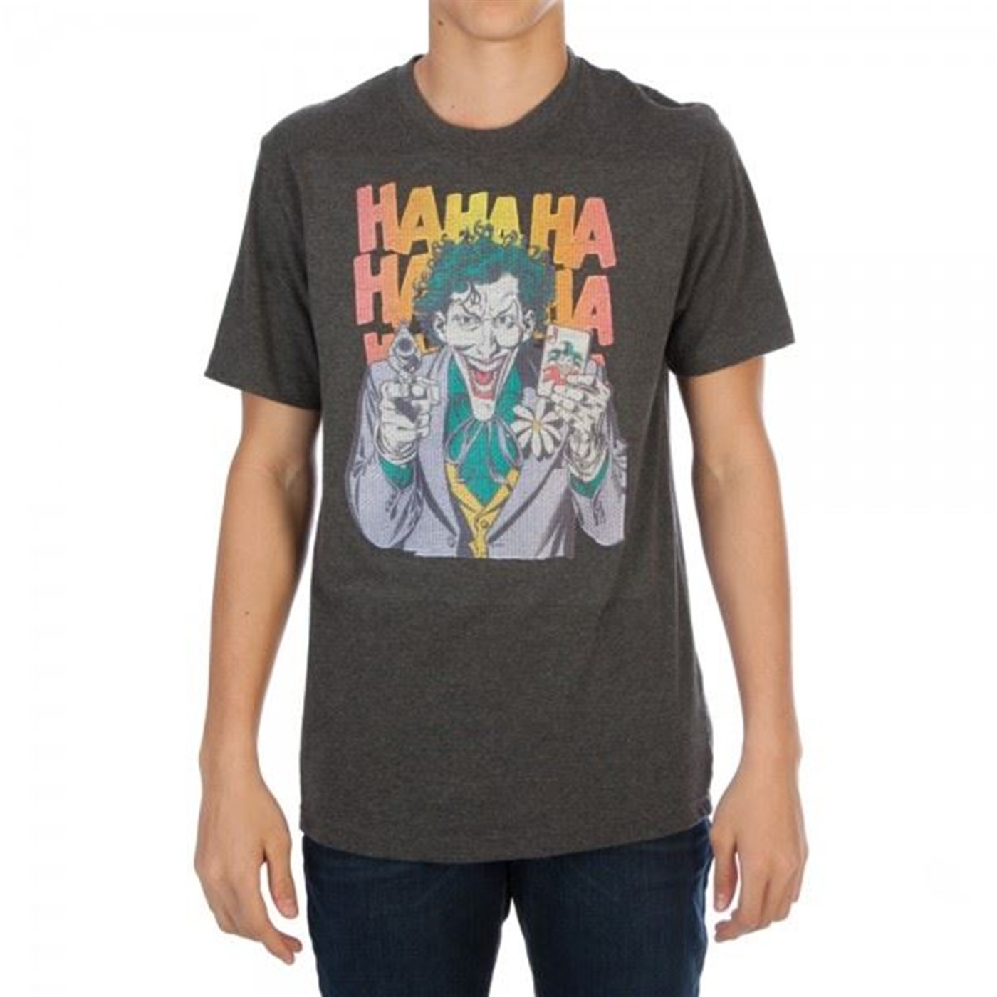DC Comics Joker HAHAHA Threadpixel Mens T-Shirt