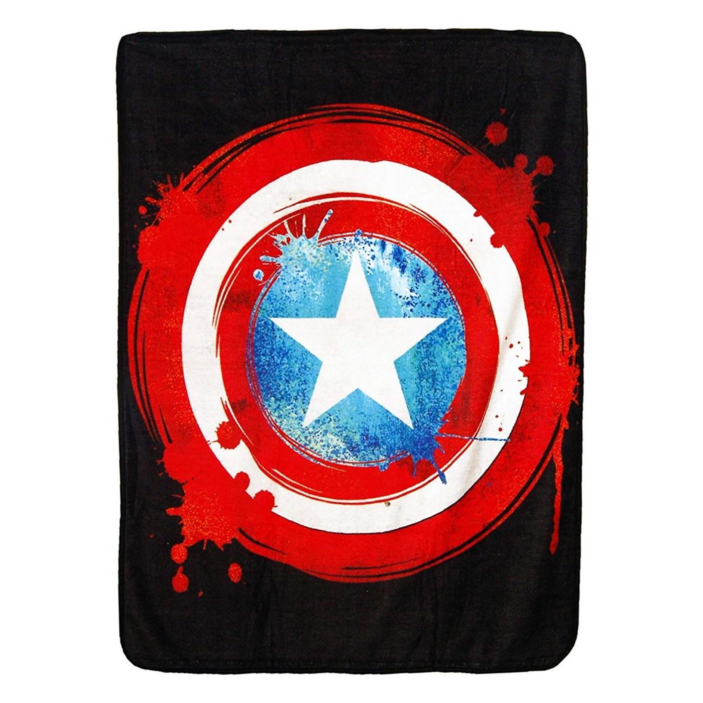 Captain America Shield Raschel Throw
