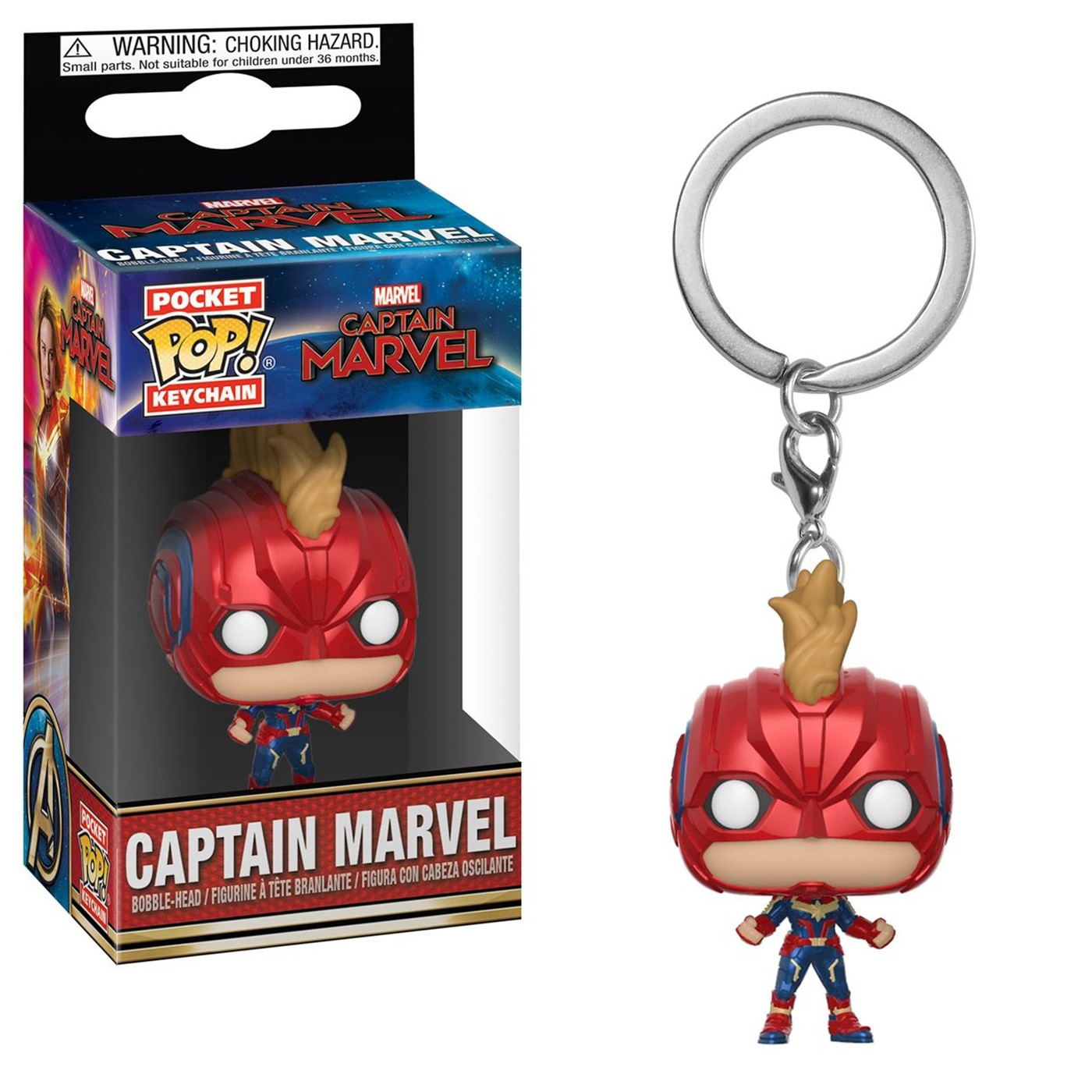 Pop! Keychains: Marvel - Captain Marvel - Captain Marvel (with Helmet)