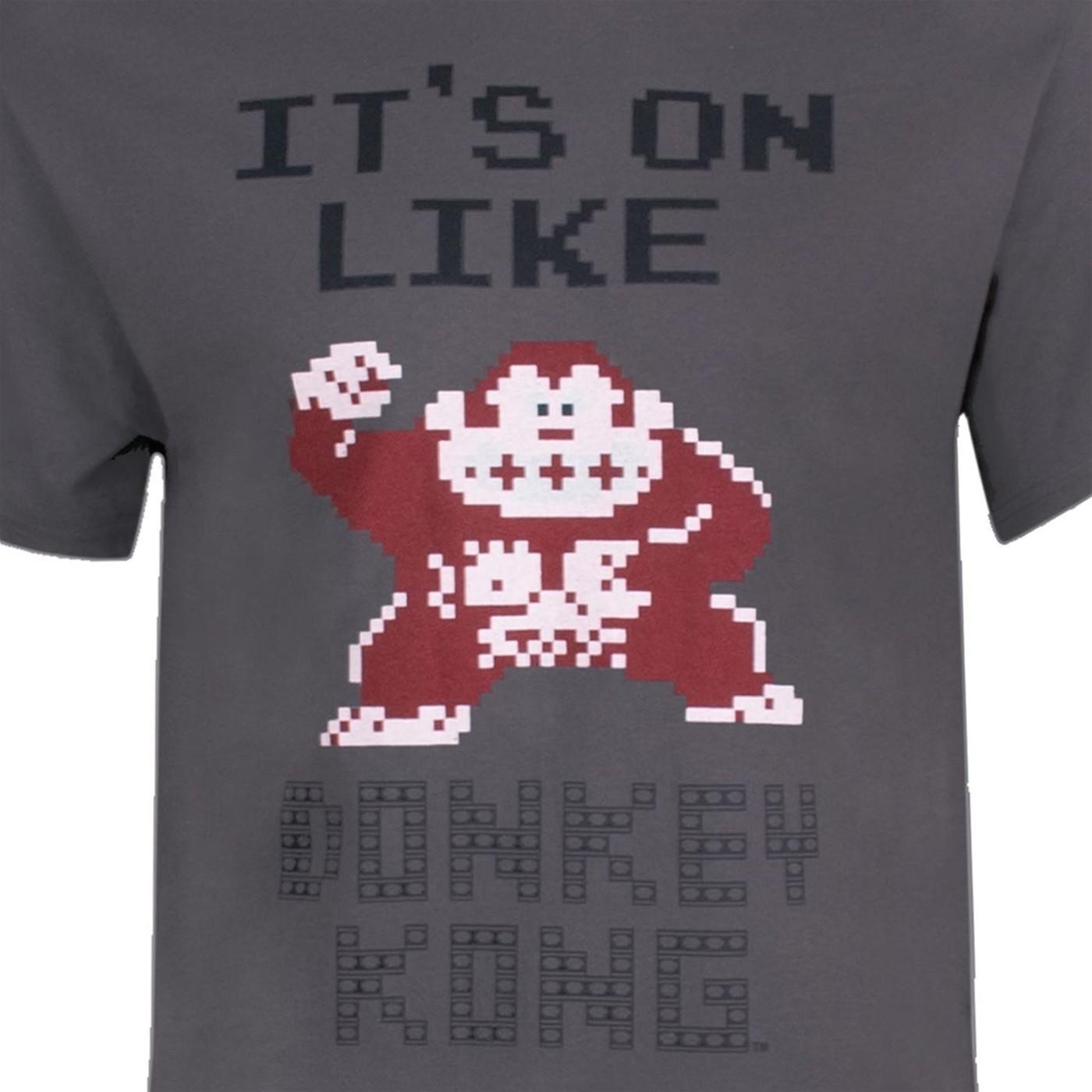 Nintendo It's on Like Donkey Kong Men's Grey T-Shirt