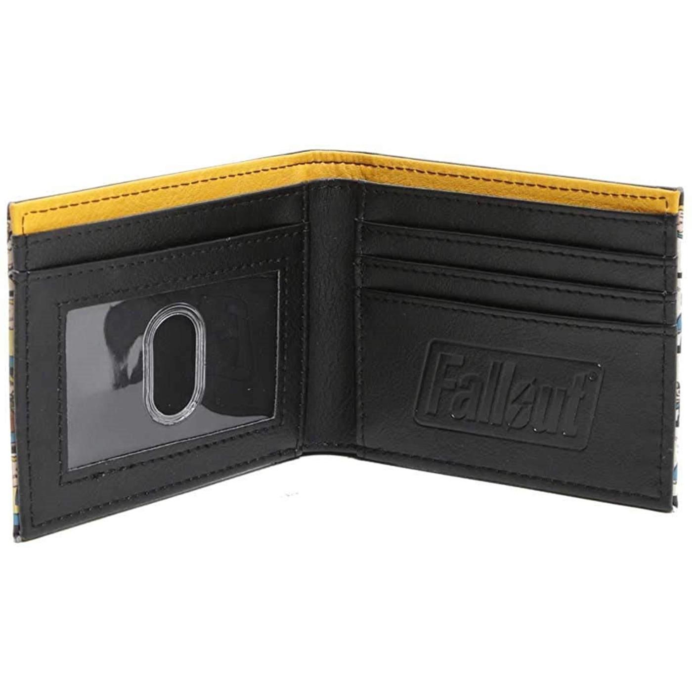 Fallout Boy Vault Tec Grid Wallet