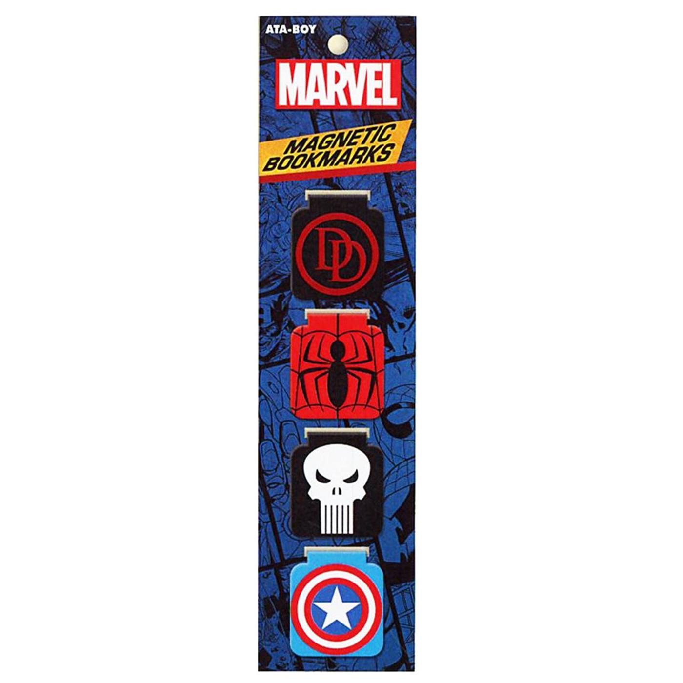 Marvel Logos Bookmark Set