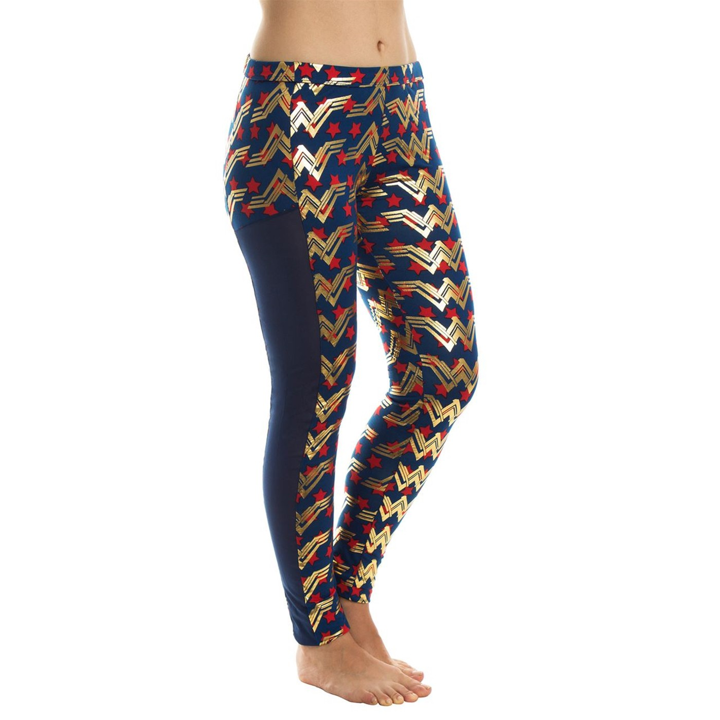 Wonder Woman Leggings w/Mesh Trim