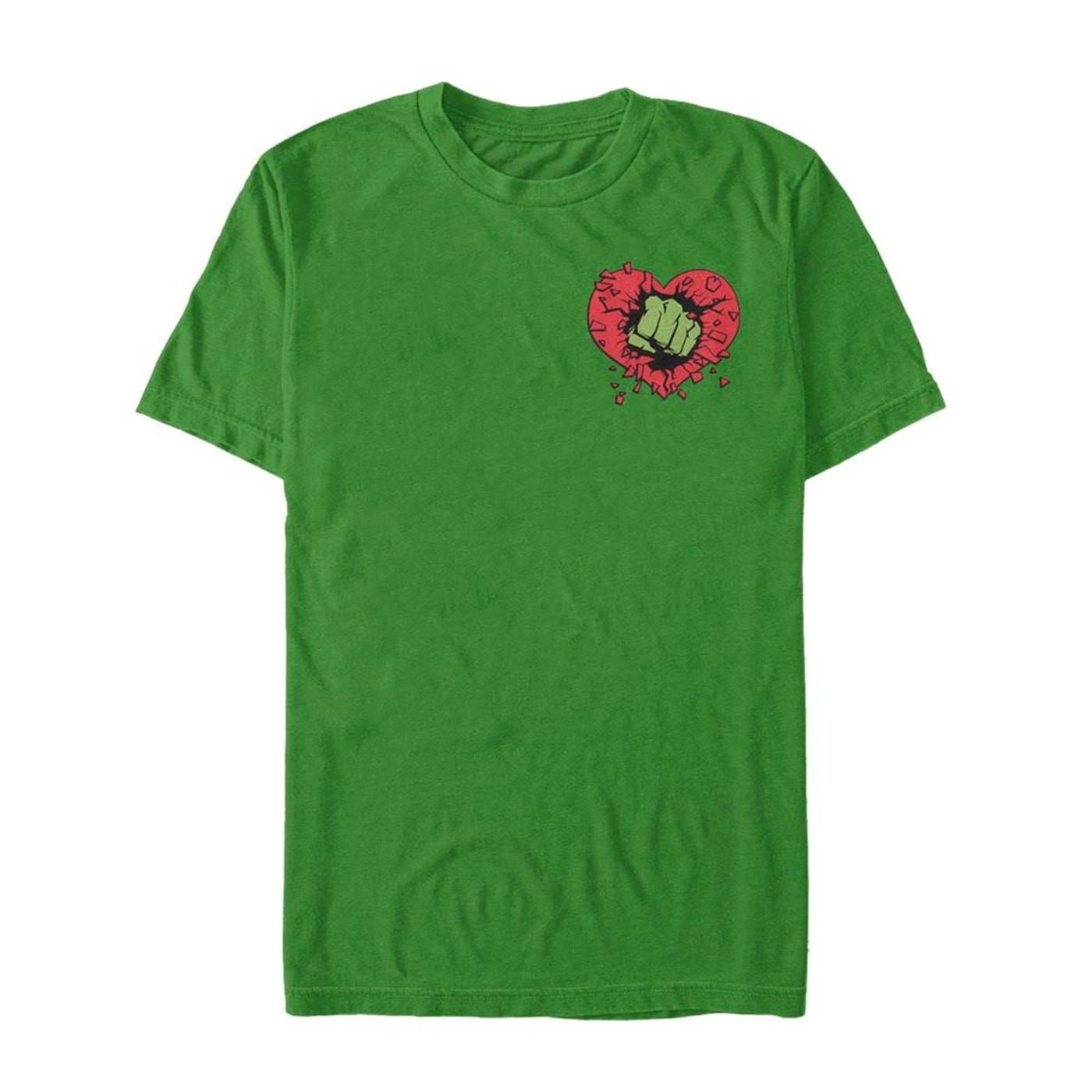 Valentine's Day Hulk Heart Smash Men's T-Shirt