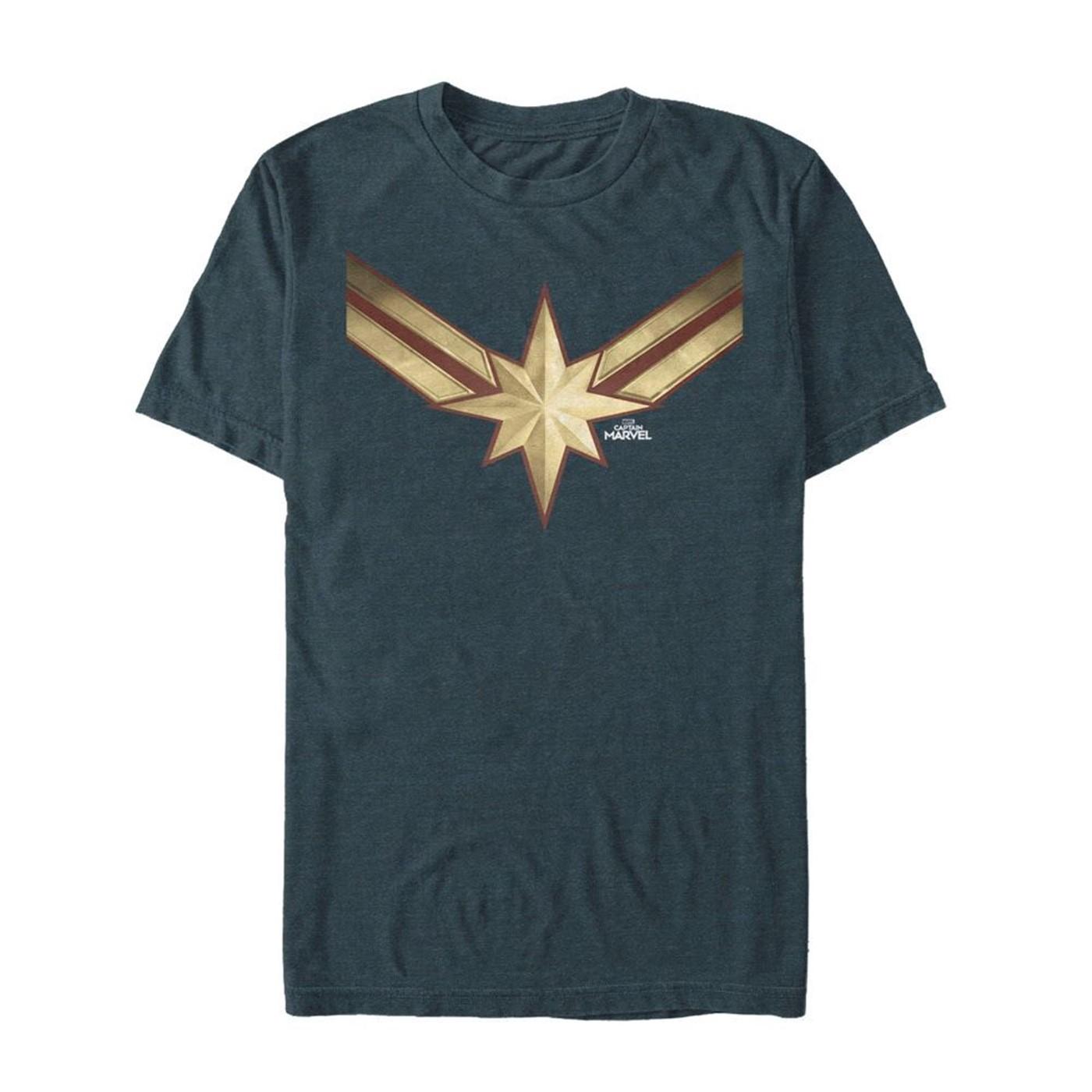 Captain Marvel Vintage Star Costume Men's T-Shirt