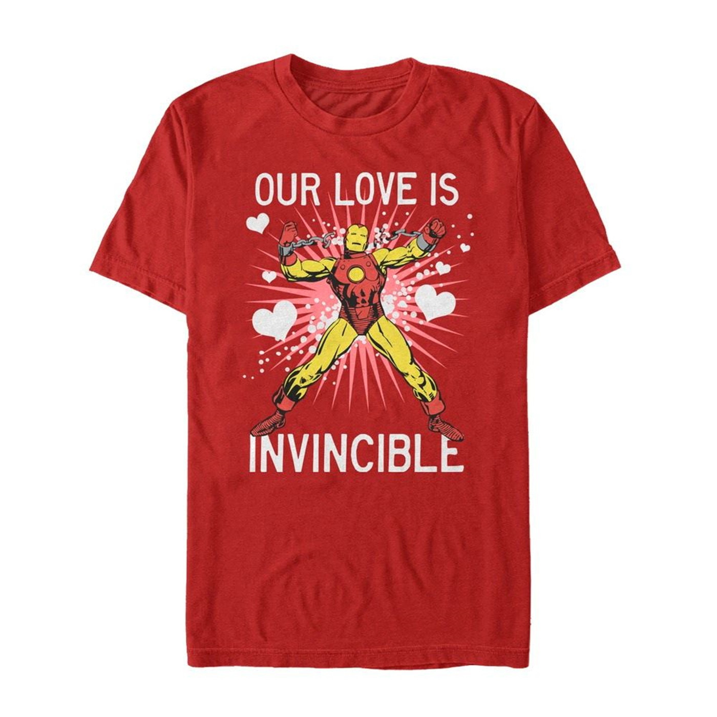Valentine's Iron Man Invincible Love Men's T-Shirt