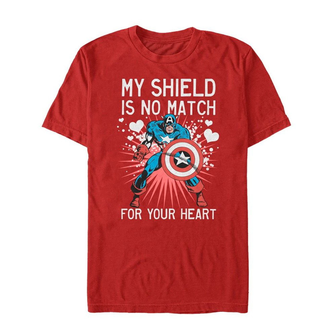 Valentine's Captain America No Shield For Heart Men's T-Shirt