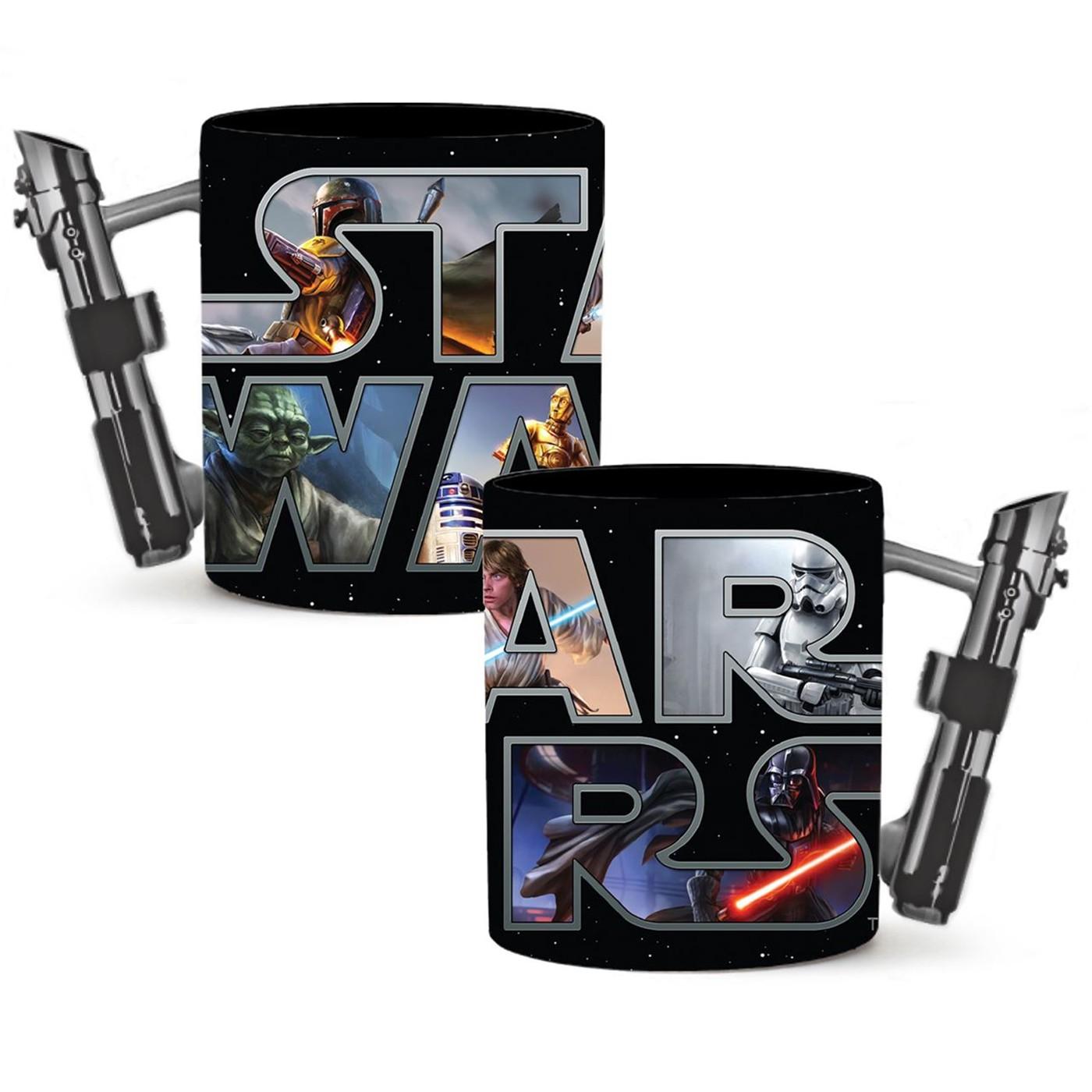 Star Wars 3D Lightsaber Mug