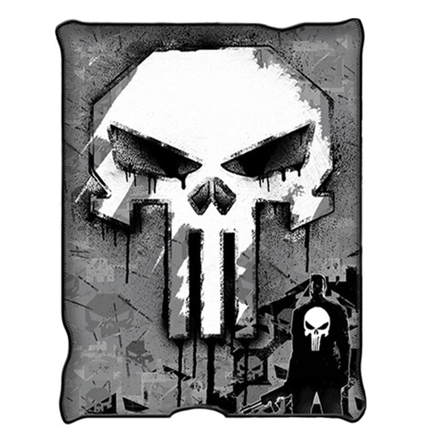 The Punisher Skull Micro-Plush Throw Blanket