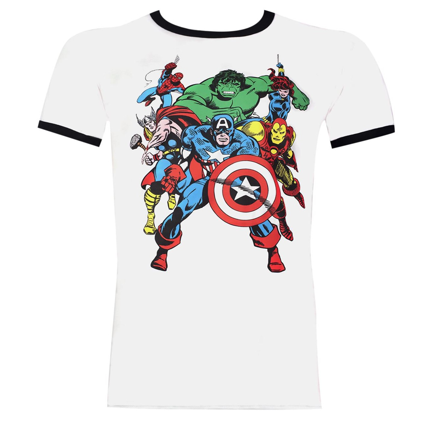 The Avengers Soft White Ringer Men's T-shirt