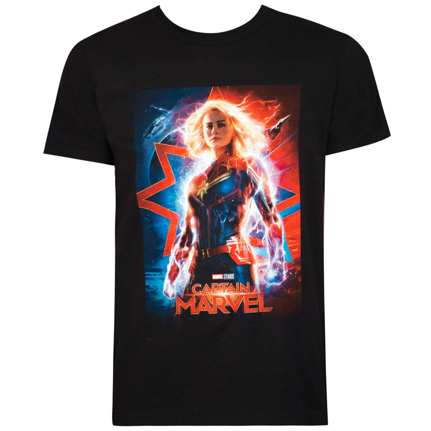 Captain Marvel Movie Poster Black Men's T-Shirt