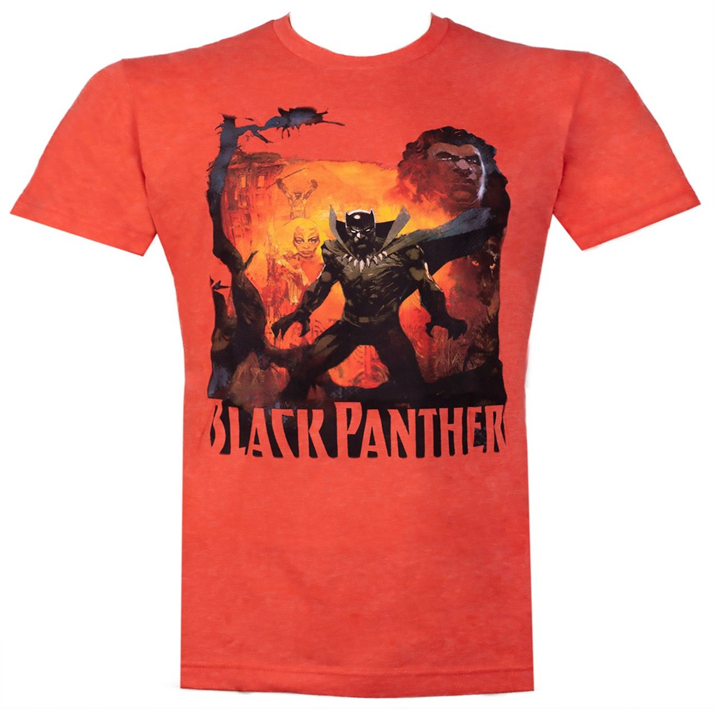 Black Panther History of the King Orange Men's T-Shirt