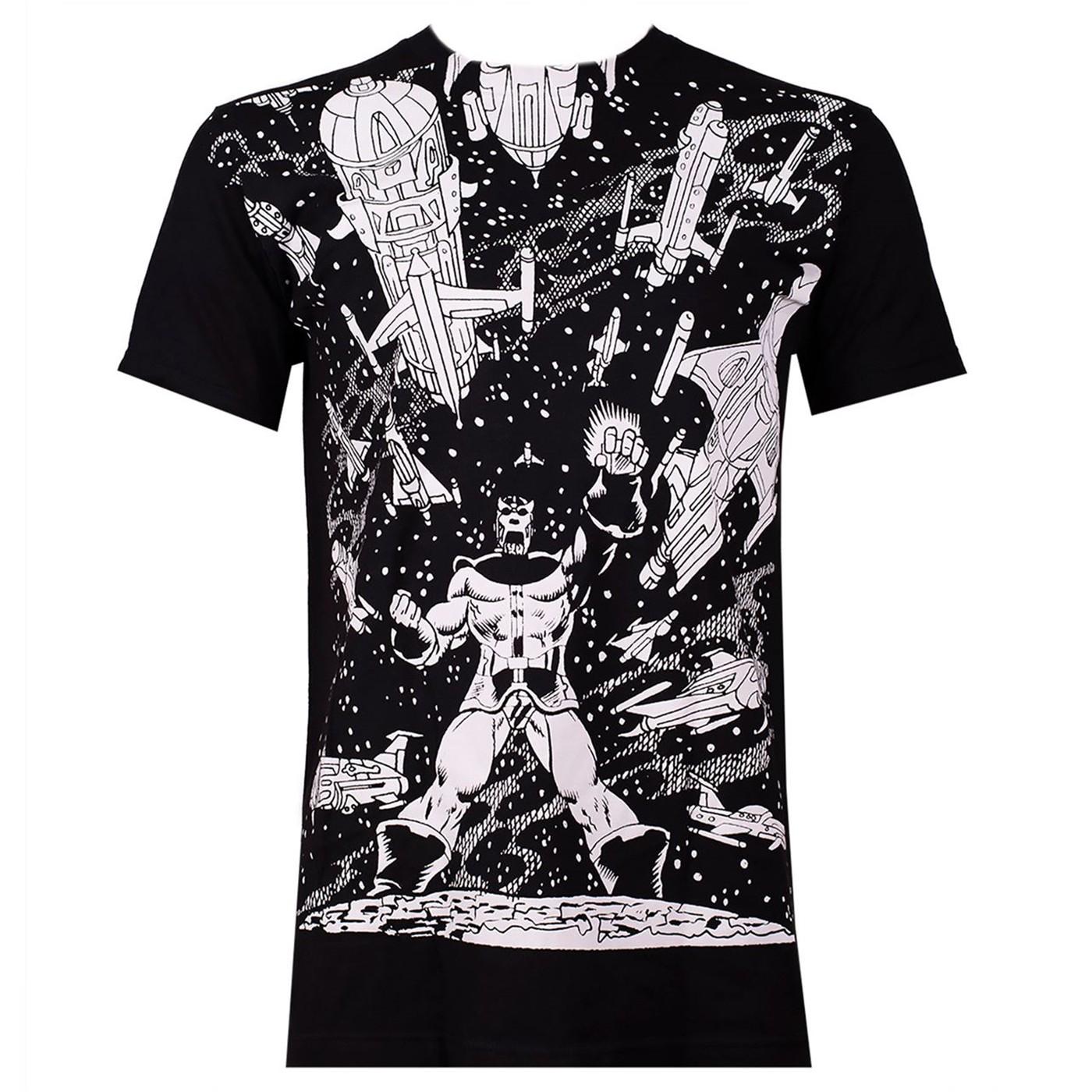 Thanos VS. Spaceships Black Men's T-Shirt