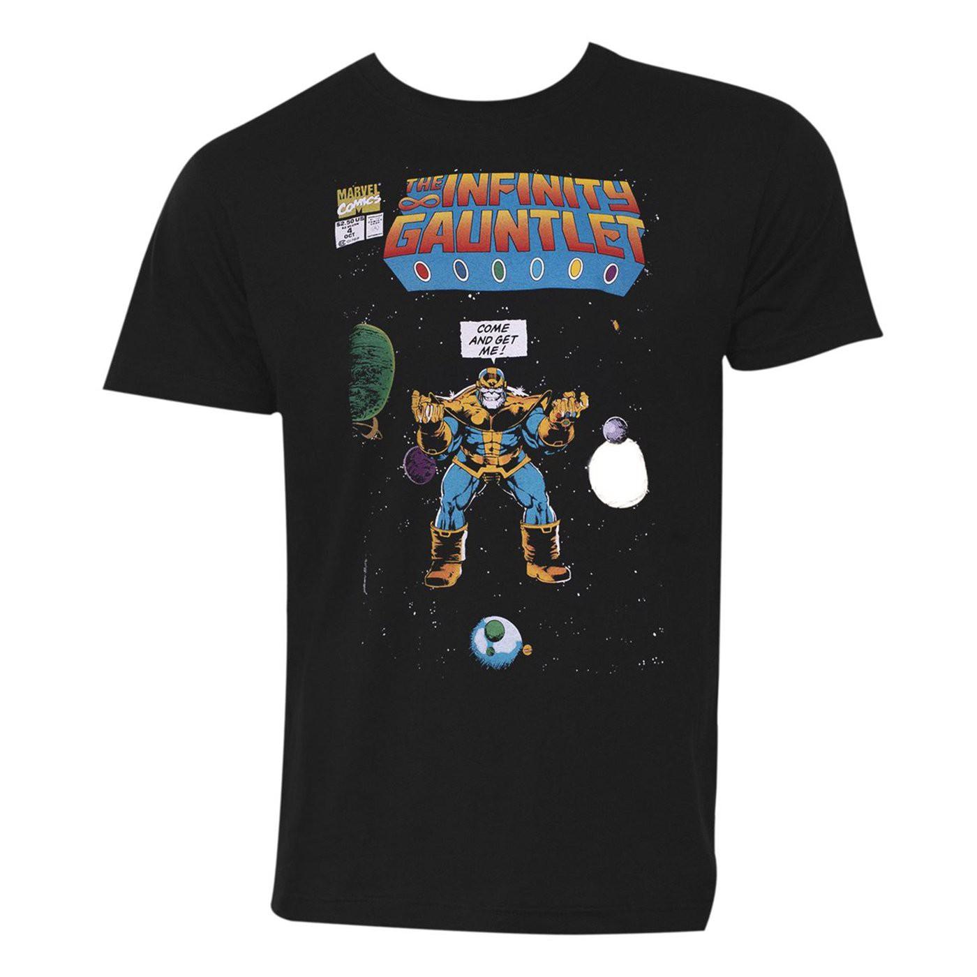 Thanos Come and Get Me! Black Men's T-Shirt