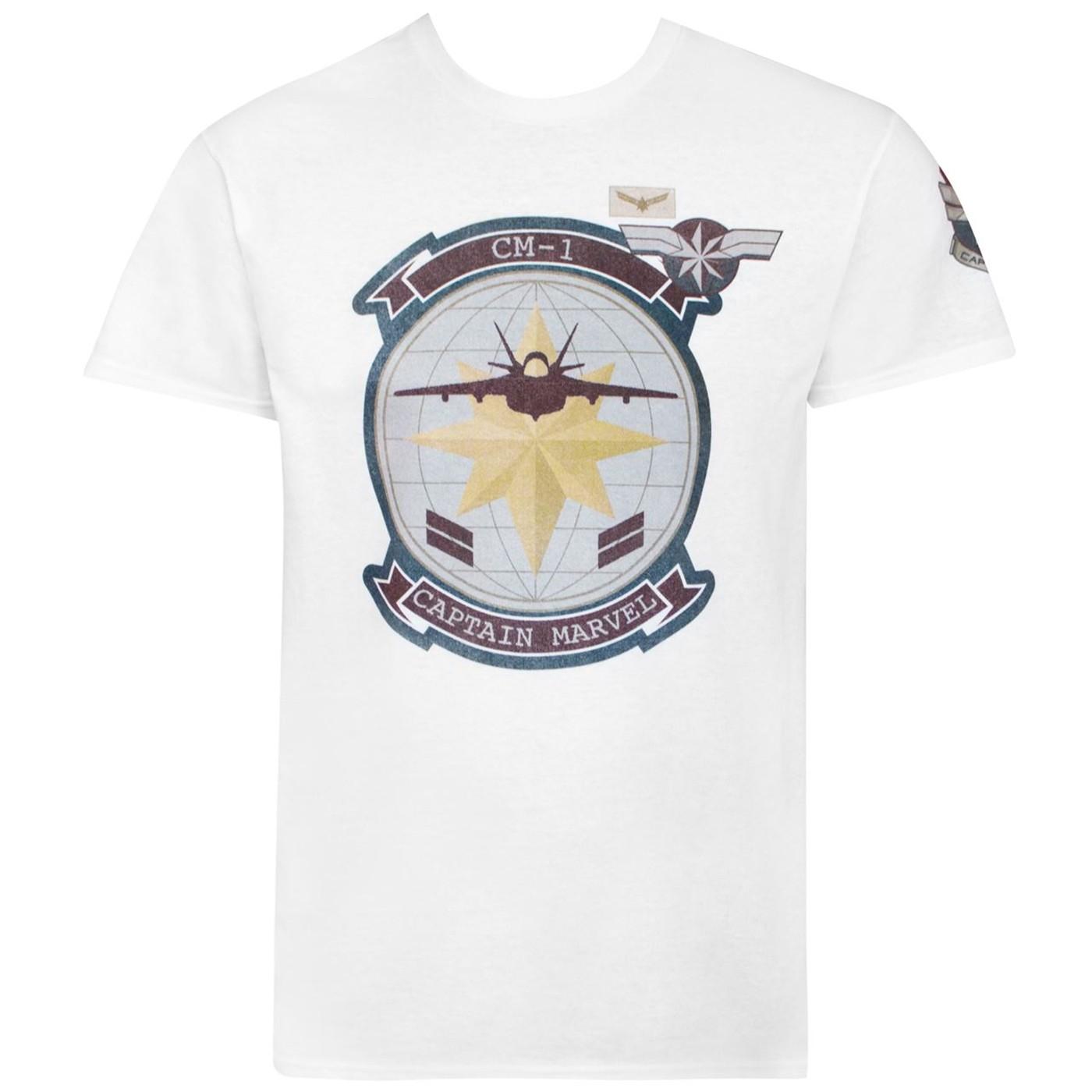 Captain Marvel Movie CM1 Fighter Jet Men's T-Shirt