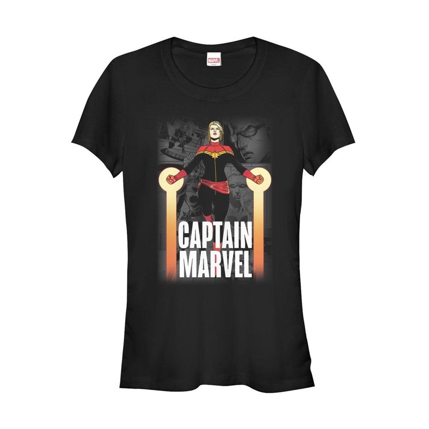 Captain Marvel In Flight Women's T-Shirt