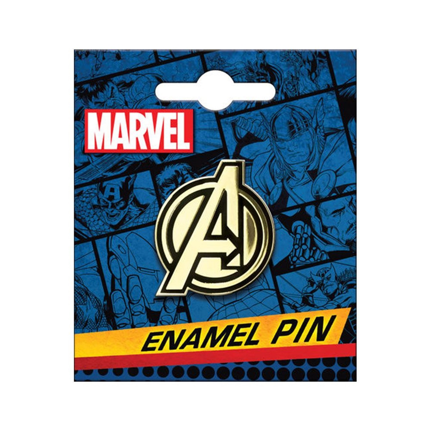 Avengers Logo Gold Enamel Pin