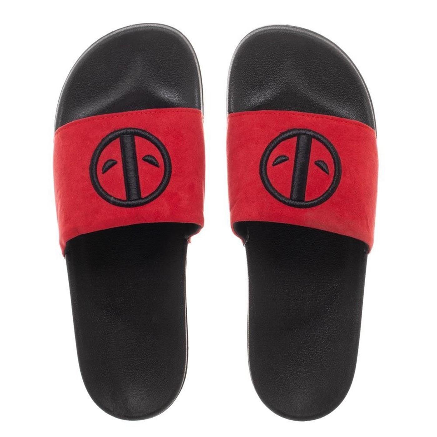 Deadpool Vegan Suede Slide Sandals