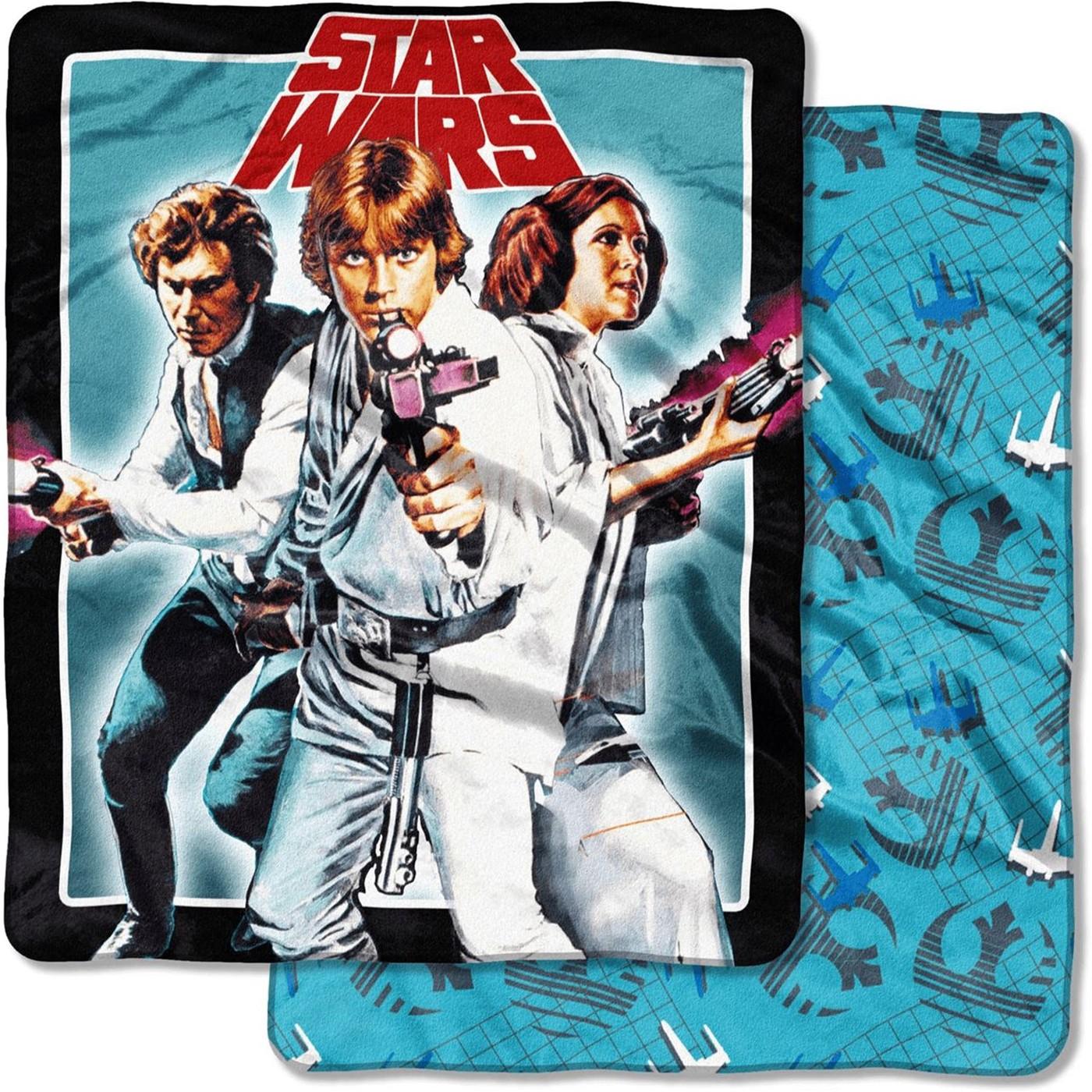 Star Wars Classic Hopeful Trio Blanket