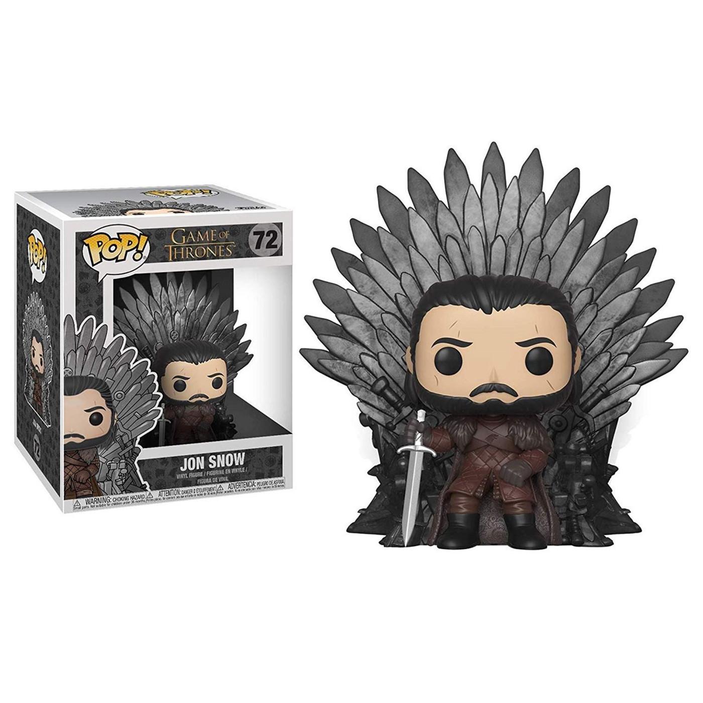 POP Deluxe: GOT S10 - Jon Snow Sitting On Iron Throne