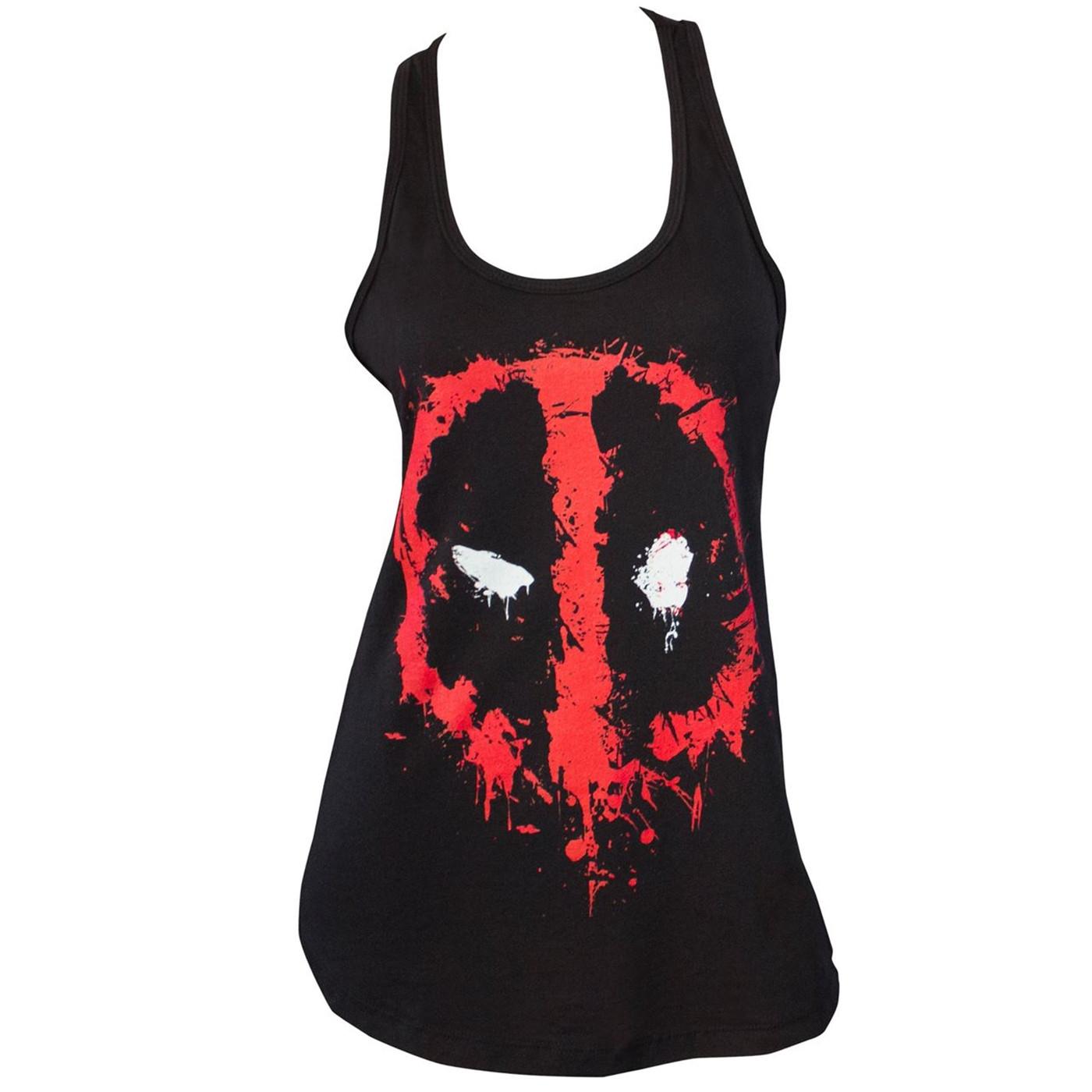 Deadpool Splatter Symbol Women's Tank Top